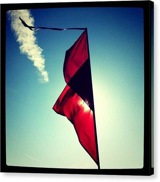 Flags Canvas Print - I'm Flagging This Day As Brilliant! by Robbert Ter Weijden
