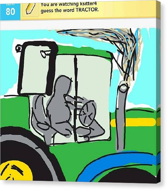 Tractors Canvas Print - Im Kinda Lame With Draw Somethong, I by Kylie Christena