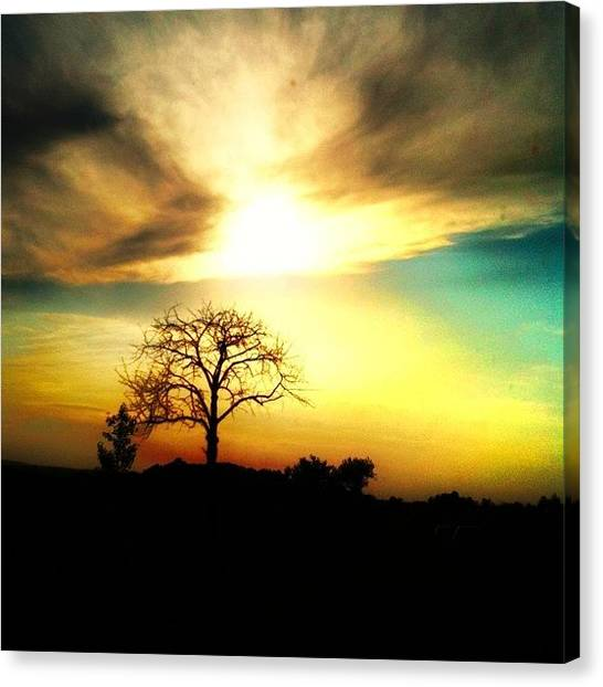 Sunset Horizon Canvas Print - I'm So In Love With #snapseed! #sunset by Melanie Stork