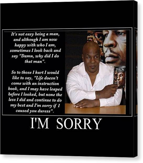 Knockout Canvas Print - I'm Sorry by Nigel Williams