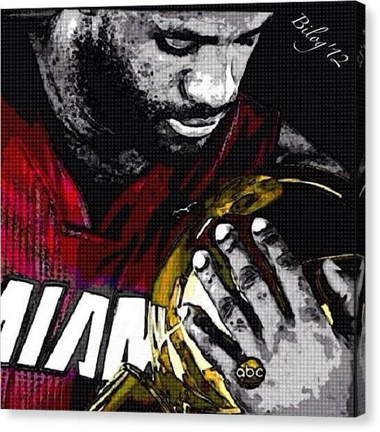 Basketball Players Canvas Print - Im The King by Momay Estrada