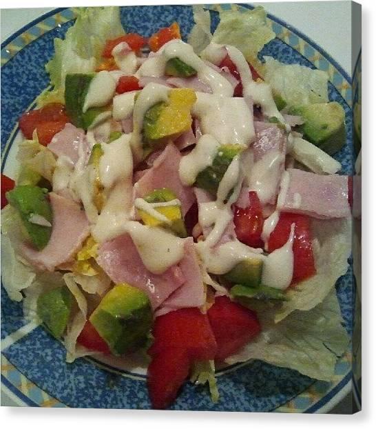 Lettuce Canvas Print - #imadeit #salad #tomatoes #avocado by Fernando Ostos