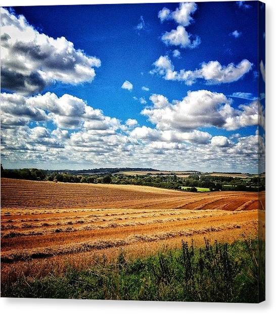 Harvest Canvas Print - Image Created With #snapseed #landscape by Nikki Sheppard