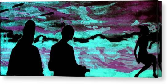 Imaginary Landscape - Fluorescence Serigraphy Canvas Print by Arte Venezia