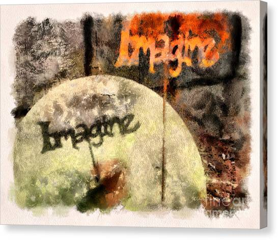 Imagine Canvas Print by Clare VanderVeen
