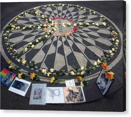 Yoko Ono Canvas Print - Imagine In Strawberry Fields by Chris Ann Wiggins