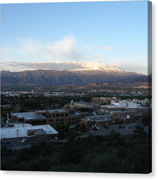 Rocky Mountains Canvas Print - #imagine Living In A Moderately Large by James Sibert