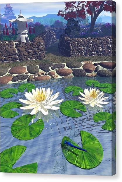 Immortal Dragonfly Canvas Print by Diana Morningstar