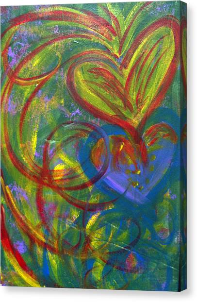 Impact Of Love Canvas Print by Bethany Stanko