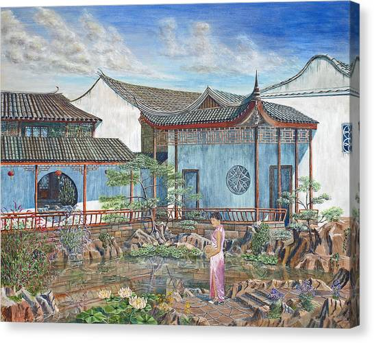 In A Chinese Garden Canvas Print