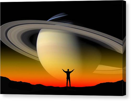In Awe Of Saturn Canvas Print