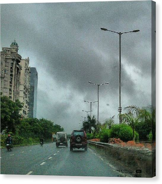 Rainclouds Canvas Print - In D Rains Through Palm Beach Road by Aron Muralidhar