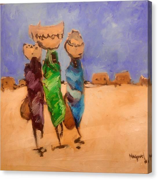 in Darfur 2 Canvas Print by Negoud Dahab