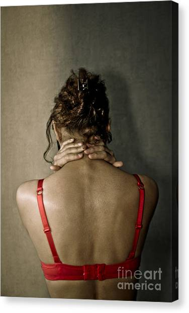 In Front Of The Wall Canvas Print by Pierre-jean Grouille