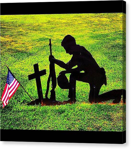 War Canvas Print - In Honor Of All Our Veterans by Stephanie Thomas