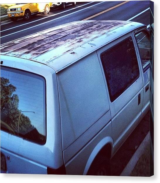 Dodge Canvas Print - In Rust We Trust #dodge Caravan by Simon Prickett