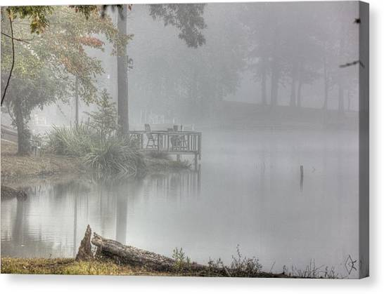 In The Fog Canvas Print by Barry Jones