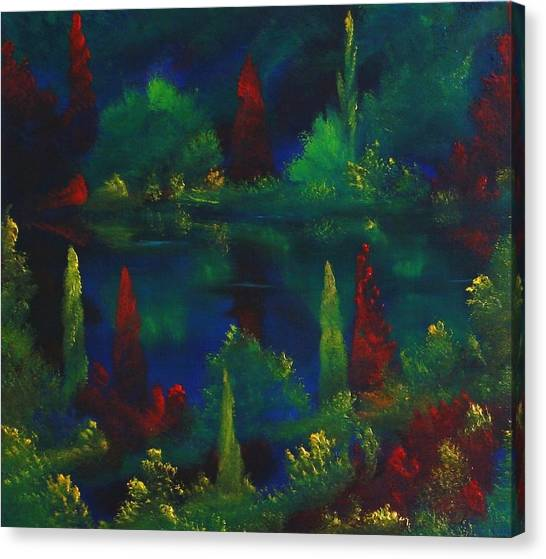 In The Garden Of Kubla Khan Canvas Print by David Snider