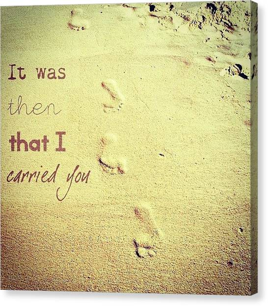 Feet Canvas Print - In The Hard Times In Your Life, When by Traci Beeson