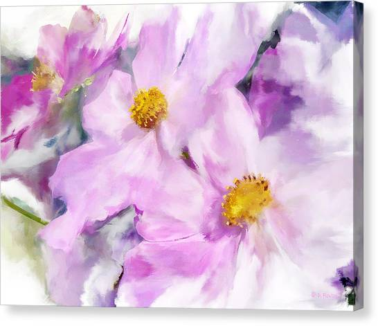 Canvas Print featuring the digital art In The Pink Card by Dee Flouton