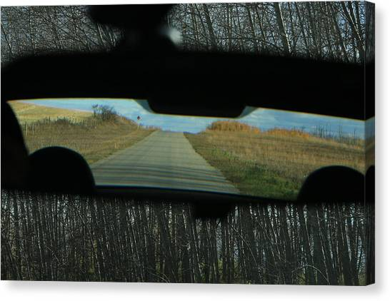 In The Rear View Canvas Print