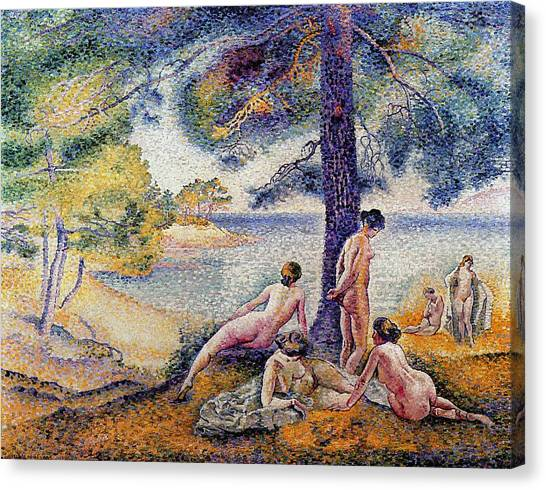 Divisionism Canvas Print - In The Shade by Henri-Edmond Cross