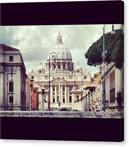 Rome Canvas Print - In Vatican We Trust by Chloé Tbf