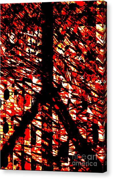 Inappropriate Oppressive Peace Canvas Print by Robert Haigh