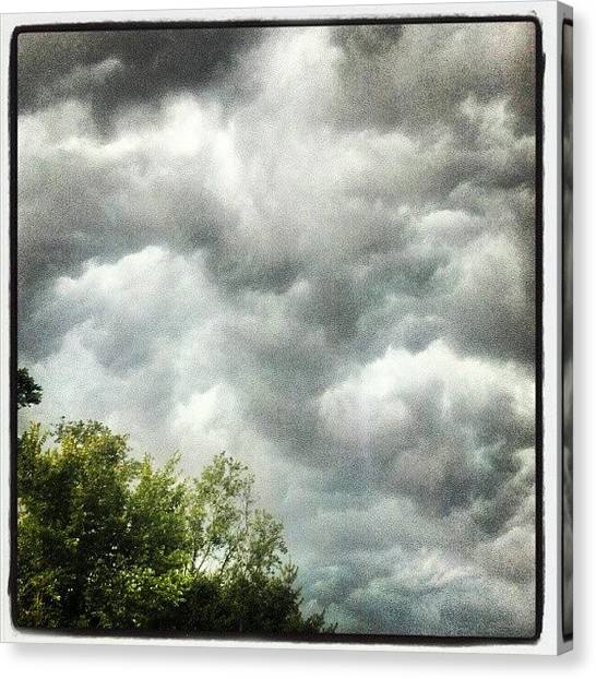 Rainclouds Canvas Print - Incoming #clouds #sky #darkness by Kym Fitzie