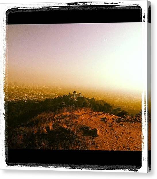 Ashes Canvas Print - Incredible 2-hour Hike At #griffith W by Ash Eliot