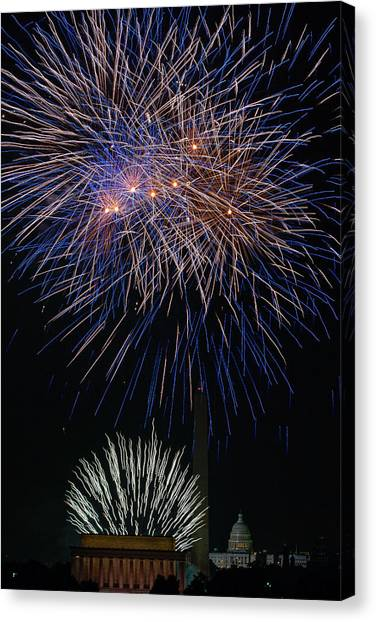 Independence Day In Dc 5 Canvas Print by David Hahn