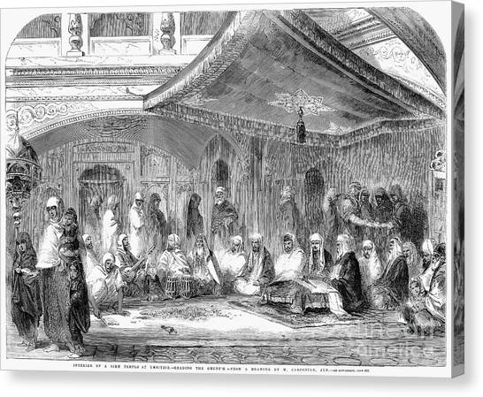 Sikhism Canvas Print - India: Sikh Temple, 1858 by Granger