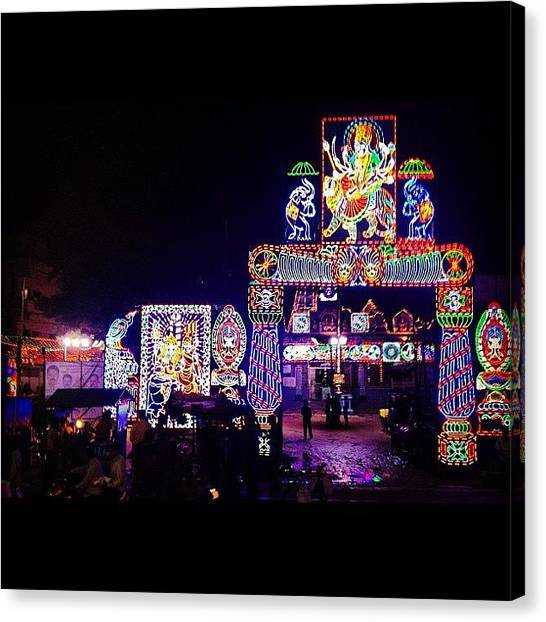 Temples Canvas Print - #india #temple #lights #neonlights by Sahil Gupta