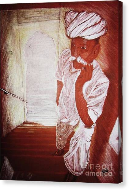 India White Cloth The Seasoning Of Peace Canvas Print