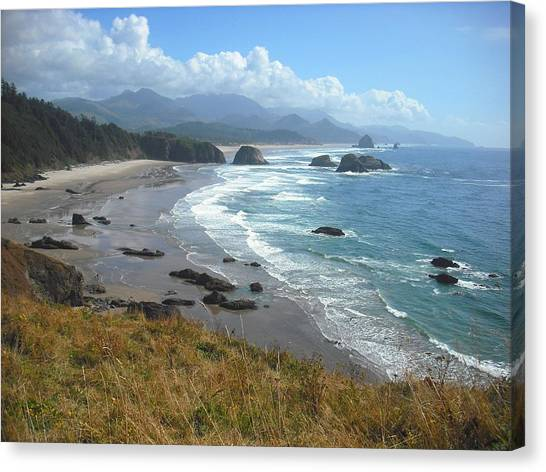 Indian Beach Ecola State Park Canvas Print