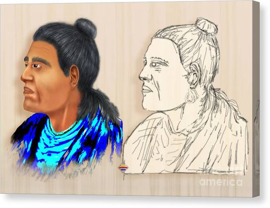 Indian Chiefs Canvas Print by Vidka Art