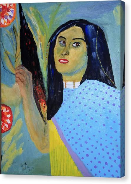 Indian Maiden Canvas Print