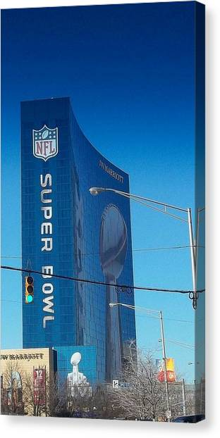 Indianapolis Marriott Welcomes Super Bowl 46 Canvas Print