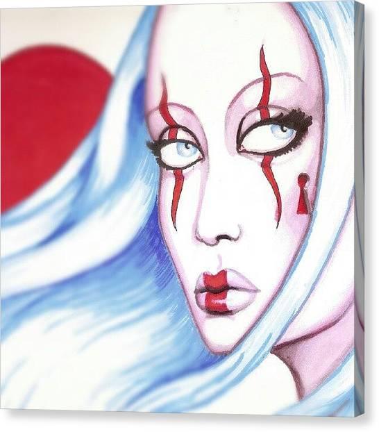 Asian Canvas Print - #industralgirl by Shayne  Bohner