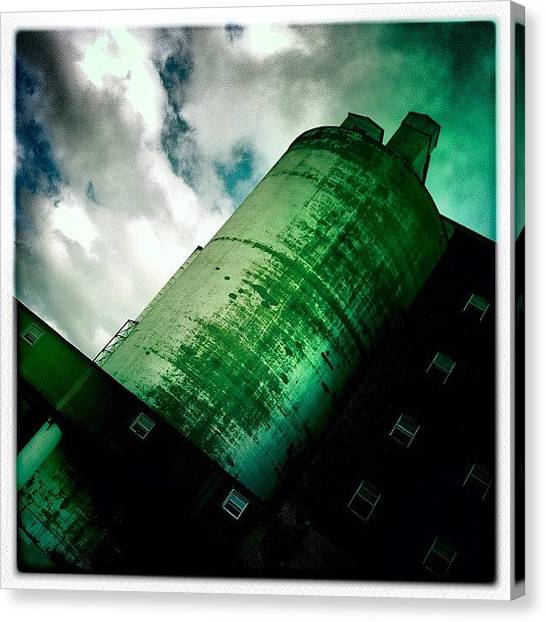 Quebec Canvas Print - #industrial #architecture #picoftheday by Nicolas Marois
