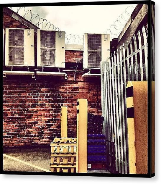 Machinery Canvas Print - #industrial #building #architecture by Miss Wilkinson
