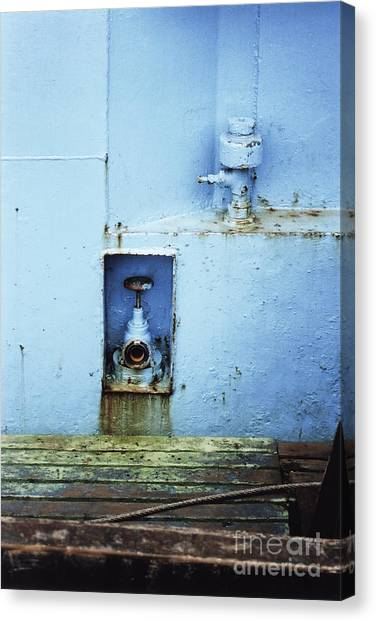 Industrial Detail In Turquoise Blue Canvas Print