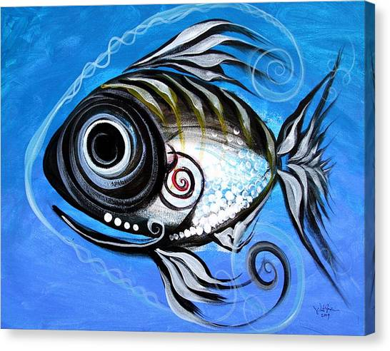Tropical Fish Canvas Print - Industrial Goddess by J Vincent Scarpace