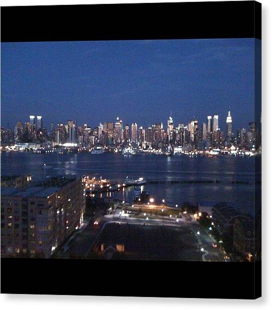 Industrial Canvas Print - Industrial Night New York City by Kai Han