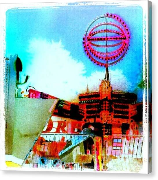 Scifi Canvas Print - Industrial Salvage - Or Sci-fi Carnival by Marianne Dow