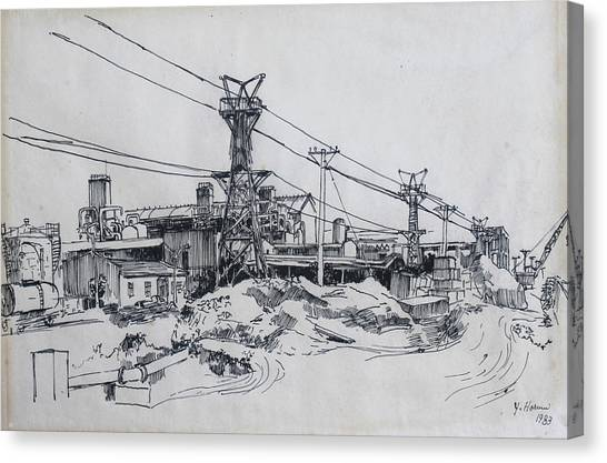 Industrial Canvas Print - Industrial Site by Ylli Haruni