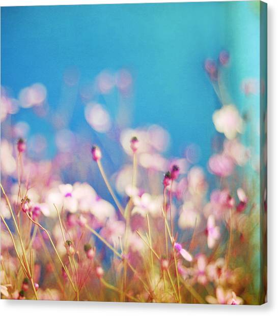 Impressionistic Canvas Print - Infatuation In Blue II by Amy Tyler
