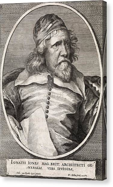 Inigo Jones, British Architect Canvas Print by Middle Temple Library
