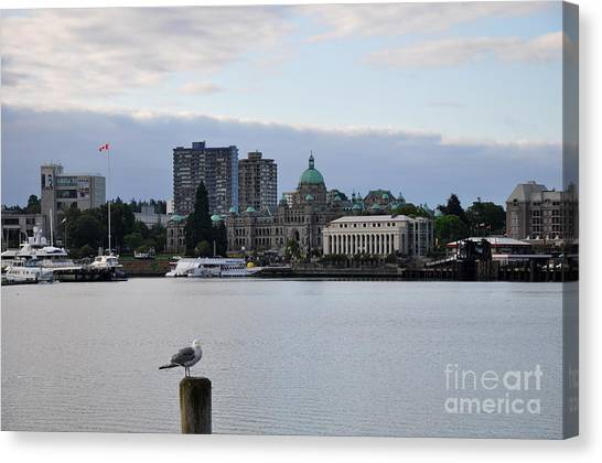 Inner Harbor Victoria Canada  2 Canvas Print by Tanya  Searcy