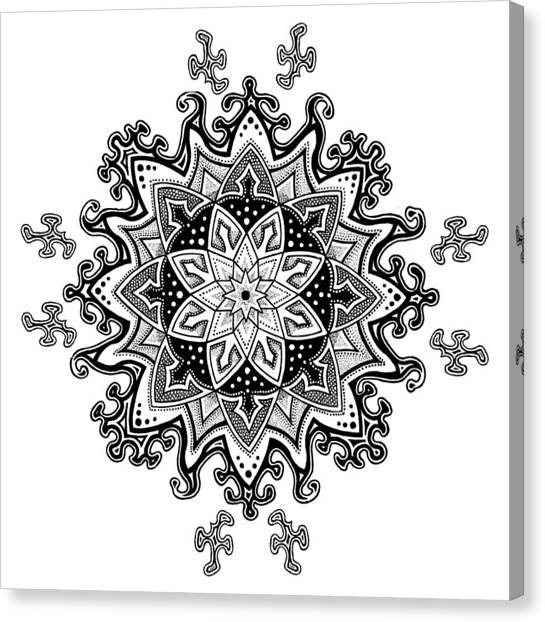 Innocent Snowflake Canvas Print by Ansel Cummings